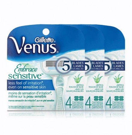 Venus Embrace Sensitive - 12 ekstra barberblader