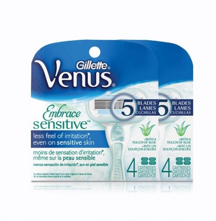 Venus Embrace Sensitive - 8 ekstra barberblader