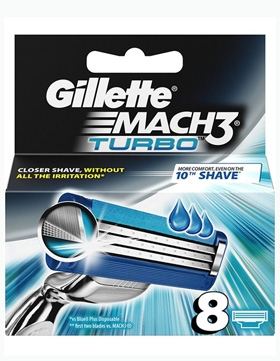 Gillette Mac 3 Turbo - 8 barberblader